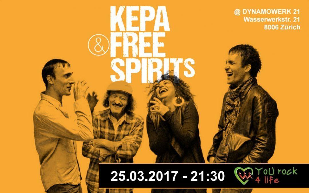 Kepa & Free Spirits 25. marta u Dynamowerku